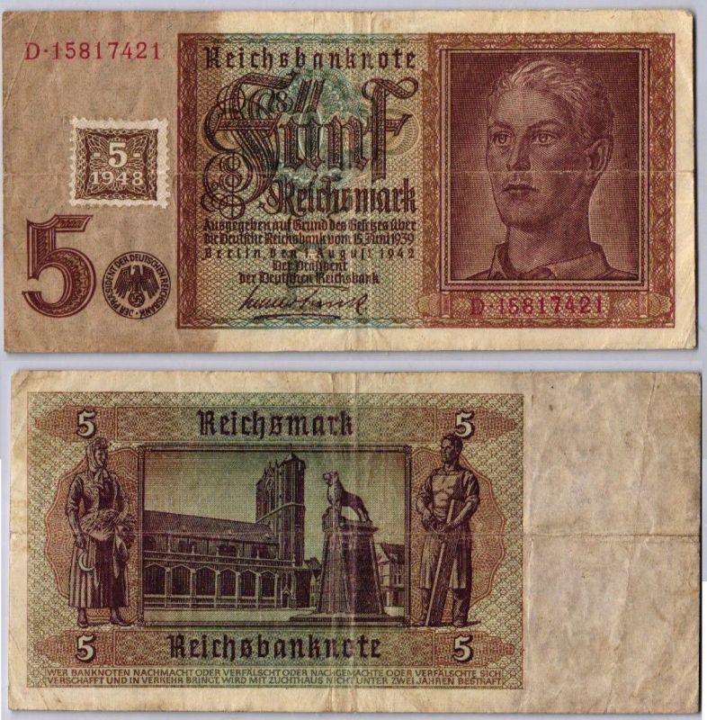 5 Mark Banknote DDR Deutsche Notenbank 1948 Kuponausgabe Ro.Nr.333 (105854)