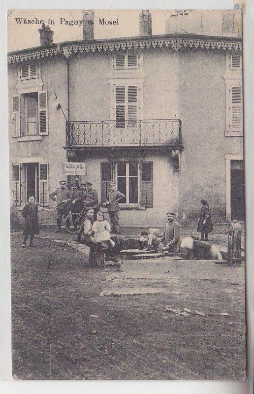 48988 Feldpost Ak Wäsche in Pagny an der Mosel Lothringen 1916