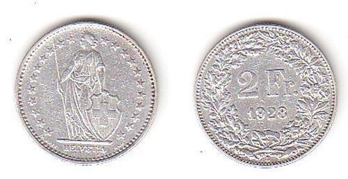 2 Franken Silber Münze Schweiz 1928 B (113638)