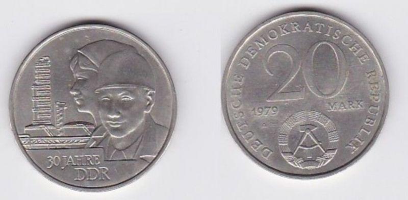 DDR Gedenk Münze 20 Mark 30.Jahrestag der DDR 1979 (118823)