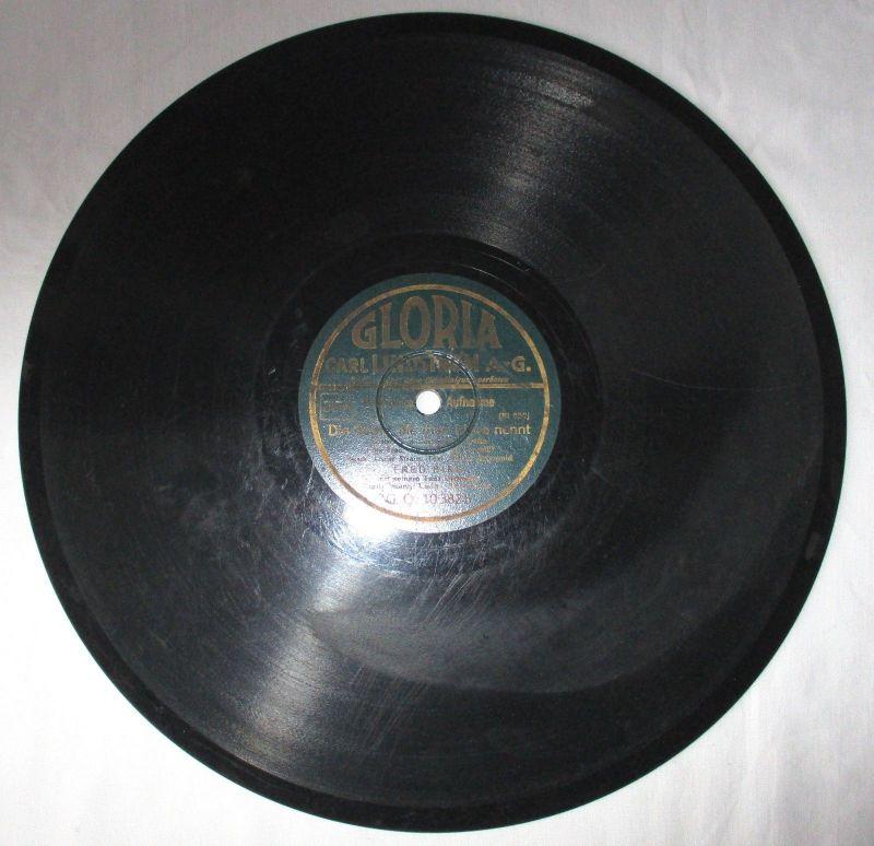 Schellackplatte Gloria