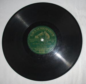 Schellackplatte Grammophon