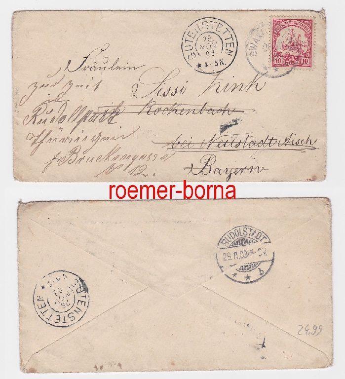 79590 Brief Deutsch Südwest Afrika Stempel Swakopmund 1903