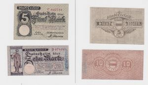 5 und 10 Mark Banknote Notgeld Stadt Crefeld 21.10.1918 (126476)