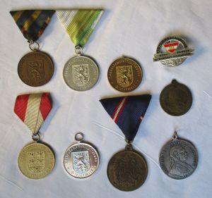 12 Medaillen und Orden Österreich, Steiermark, Niederösterreich usw. (127887)