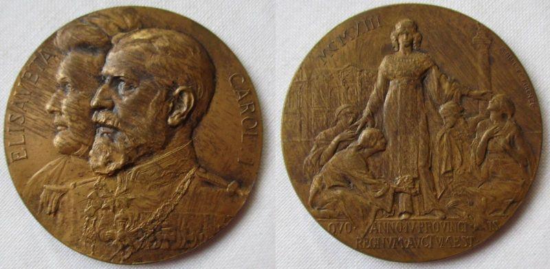 Seltene Medaille Regierungsjubiläum Rumänien Carol I. & Elisaveta 1913 (106121)