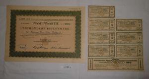 100 Mark Aktie Gedelag Lebensmittel Großhändler in Berlin 8.11.1941 (127792)
