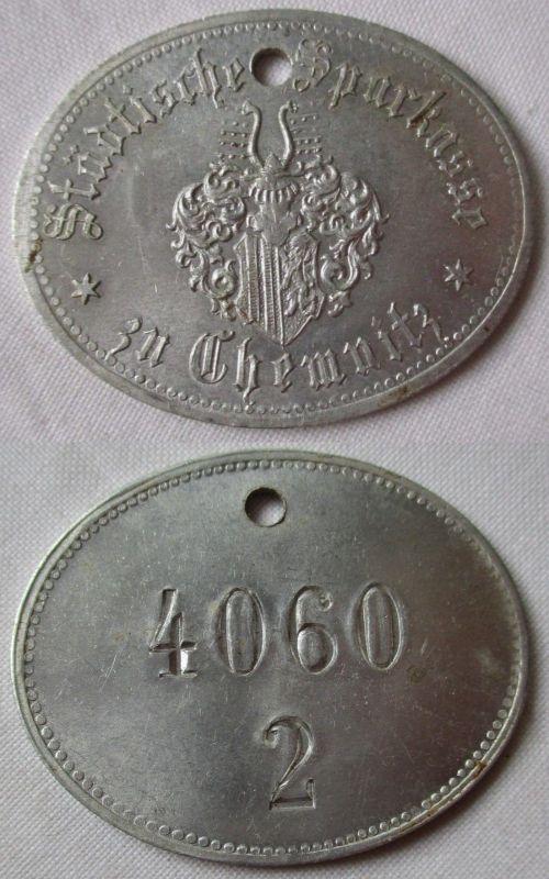 Aluminium Wertmarke Städtische Sparkasse zu Chemnitz 4060/2 um 1920 (105568)