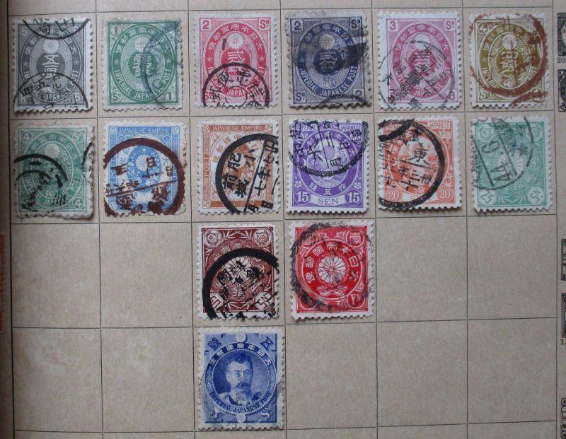 Kleine Briefmarkensammlung Japan ab 1883 (113680)
