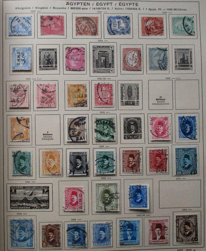 Kleine Briefmarkensammlung Ägypten Egypt ab 1888 (116040)
