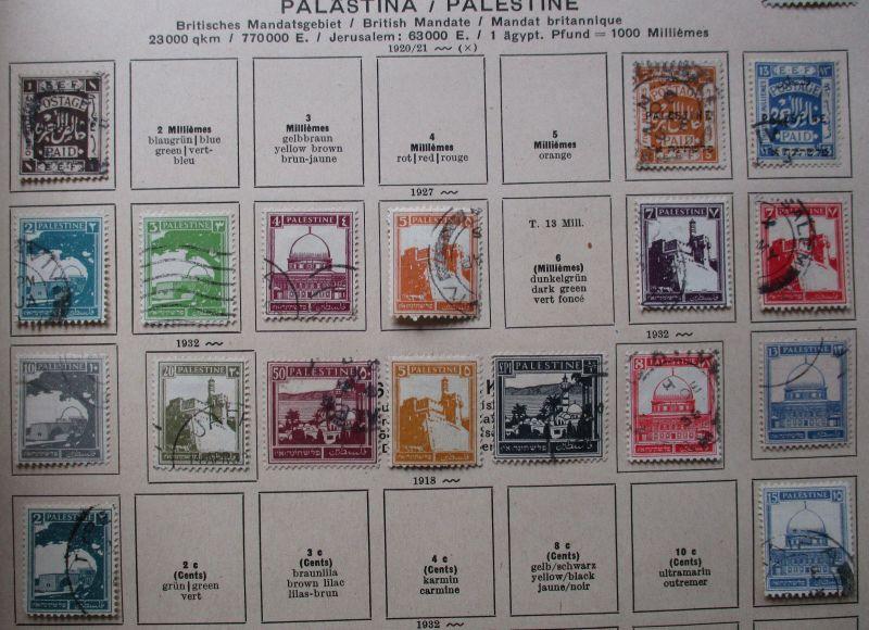Kleine Briefmarkensammlung Ost Jordanland und Palästina ab 1921 (118601)