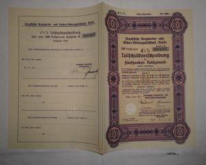 500 Reichsmark Preußische Bergwerks- & Hütten AG Berlin März 1940 (126738)