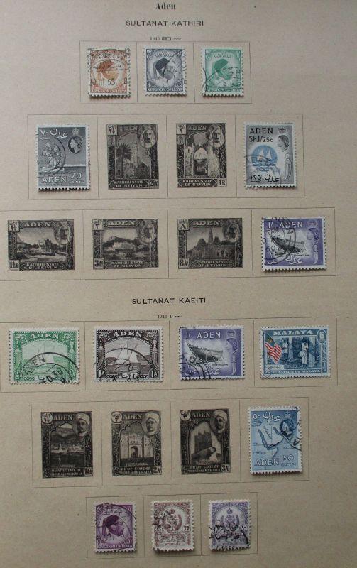 Kleine Briefmarkensammlung Aden ab 1943 (115585)