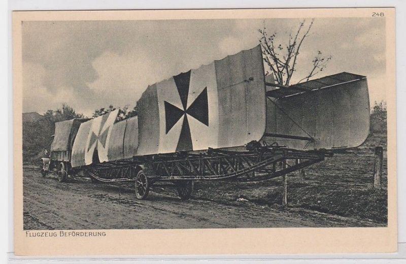 75323 Ak Flugzeug Beförderung mit LKW, Postkarte der Ostpreußenhilfe 1915