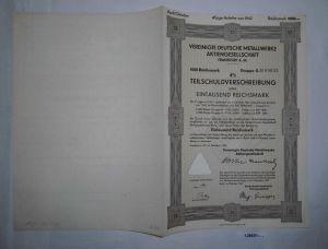 1000 RM Schuldverschreibung Vereinigte Deutsche Metallwerke AG 1939 (128687)