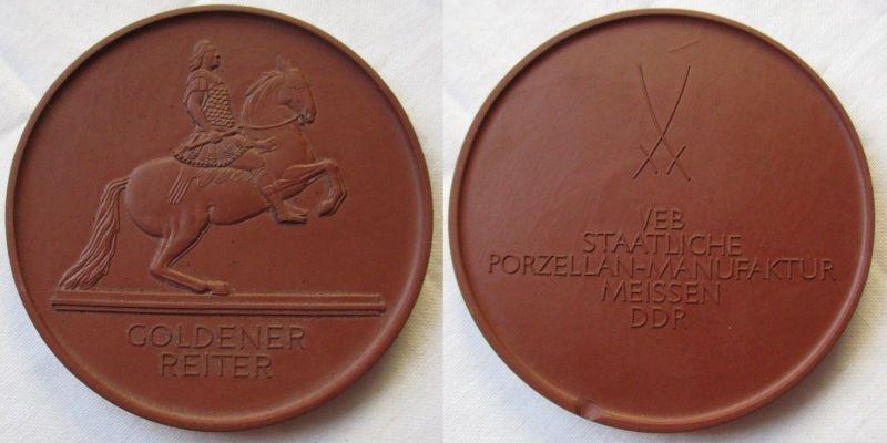 Medaille Goldener Reiter VEB Staatliche Porzellan-Manufaktur Meissen DDR /119842