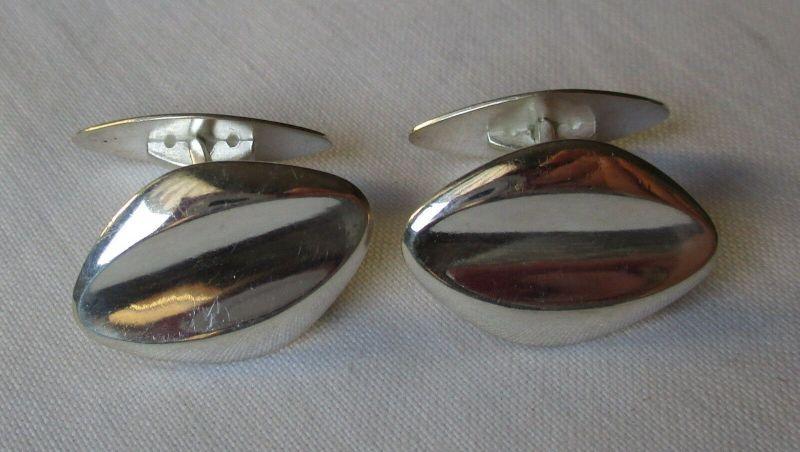 Zeitlos elegante 835er Silber Manschettenknöpfe (129470)