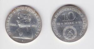 DDR Gedenk Silber Münze 10 Mark Gerhard J.D. v. Scharnhorst 1980 Stgl. (129537)