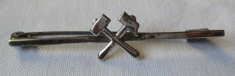 Wunderbare Brosche Zunftschmuck Zunftzeichen Bergbau aus 835er Silber (129463)