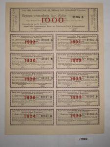 1000 Mark Erneuerungsschein Braunschweiger Wurst- & Fleischwarenfabrik (127082)