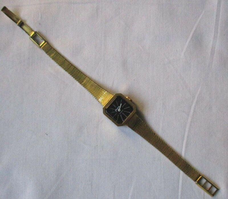 Seltene Damen Armbanduhr GUB Glashütte 17 Rubis Made in GDR (129468)