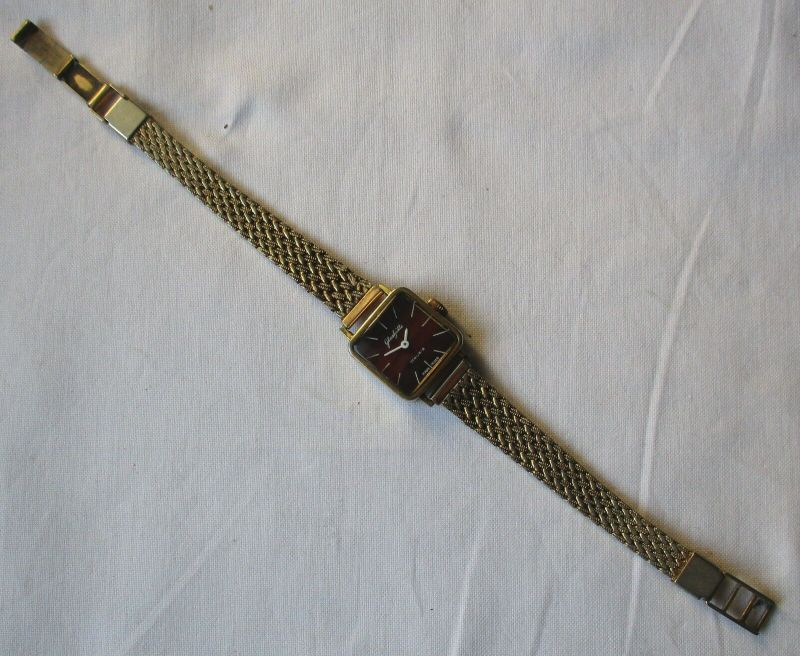 Seltene Damen Armbanduhr GUB Glashütte 17 Rubis Made in GDR (129466)