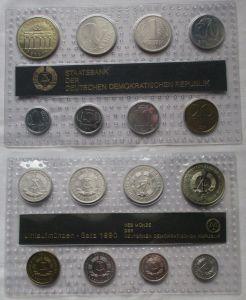 Kompletter DDR Kursmünzensatz (KMS) mit 5 Mark 1990 Stgl. in OVP (129681)
