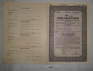 1000 Mark Obligation VEB kommunale Wohnungsverwaltung Calbe 28.März 1958 /128960