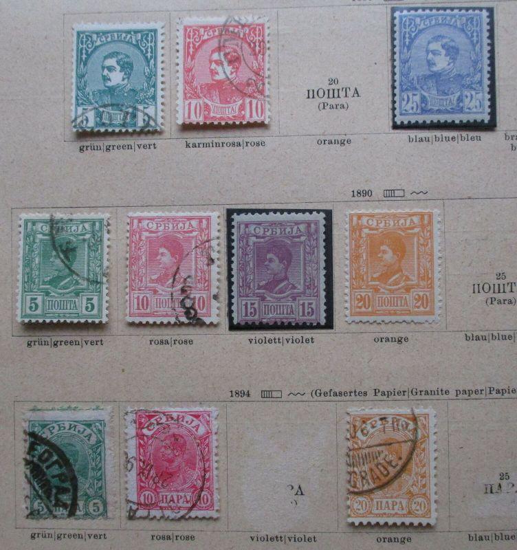 Kleine Briefmarkensammlung Serbien ab 1880 (118330)