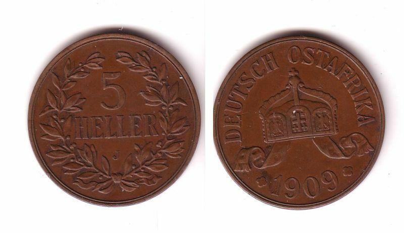 5 Heller Kupfer Muenze Deutsch Ost Afrika 1909 J