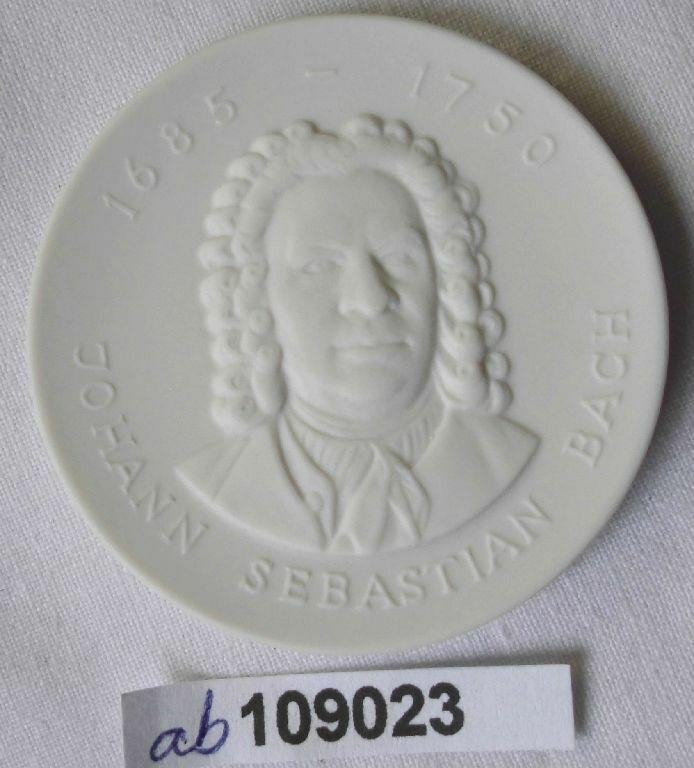 DDR Porzellan Medaille Johann Sebastian Bach 1685-1750 (109023)