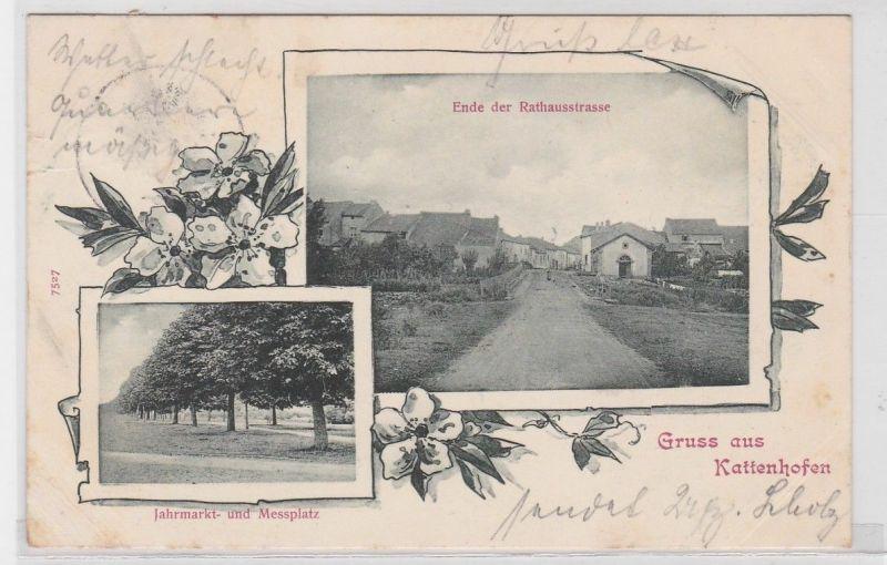 34876 Mehrbild Ak Gruß aus Kattenhofen in Lothringen Messplatz usw. 1901