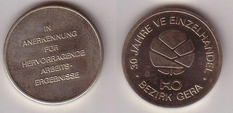 DDR Medaille 30 Jahre VE Einzelhandel HO Bezirk Gera (113595)