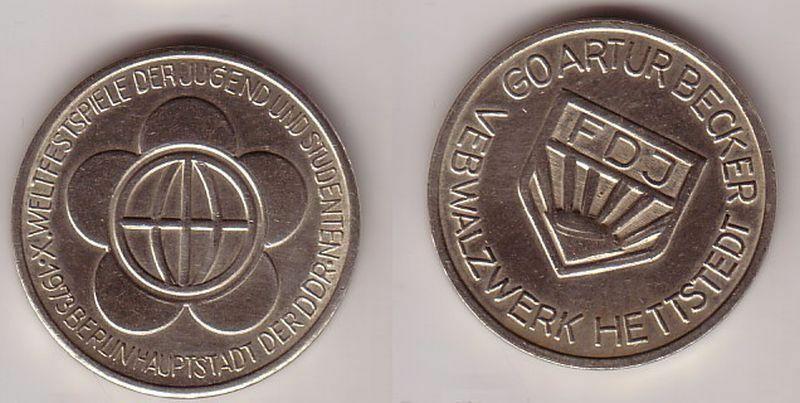 DDR Medaille VEB Walzwerk Hettstedt FDJ Artur Becker 1973 (113659)