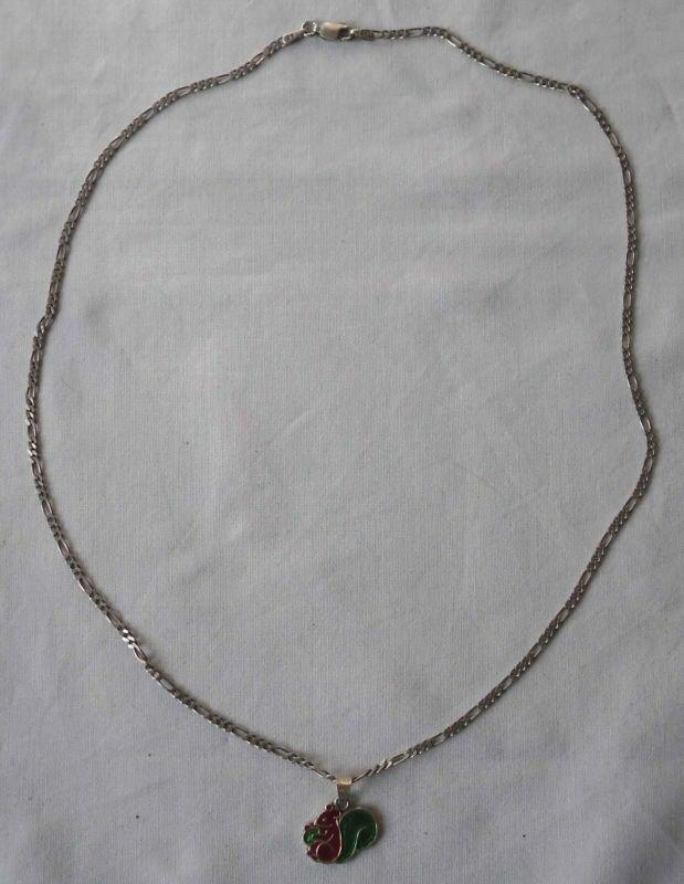 Charmante Kette aus 925er Silber mit niedlichem Eichhörnchen Anhänger (114867)