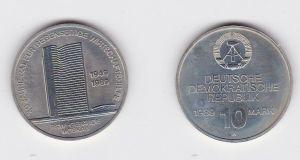DDR Gedenkmünze 10 Mark 40 Jahre RGW Wirtschaftshilfe 1989 Stempelglanz (128735)