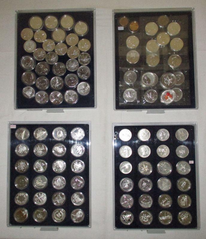 99 Silbermünzen Stempelglanz Kanada in 4 Münzkästen (119208)
