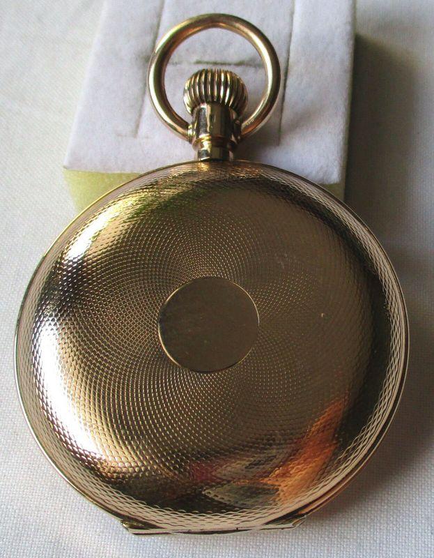 Elegante Herren Taschenuhr IWC International Watch C. Schaffhausen 585er Gold