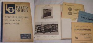 LG (El-Ge) Klein Möbel / Zeitgemäße Einzelmöbel, Stil- Kleinmöbel, 1938/39