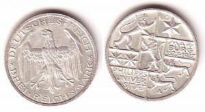 3 Mark Silber Münze Universitaet Marburg 1927