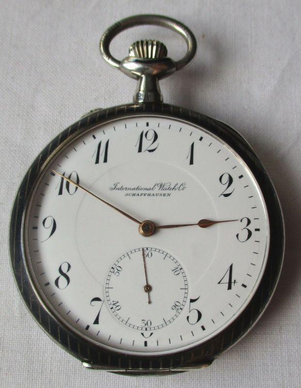 Elegante Herren Taschenuhr IWC International Watch C. Schaffhausen 900er Silber