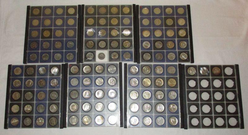 DDR Gedenkmünzensammlung komplett 123 Münzen Stempelglanz (111376)