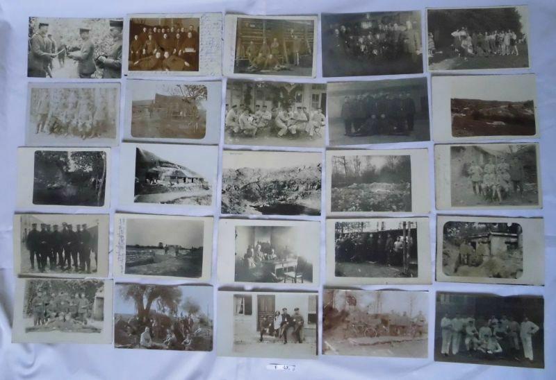 100 meist Foto Ansichtskarten Militär Soldaten 1. Weltkrieg (102227)