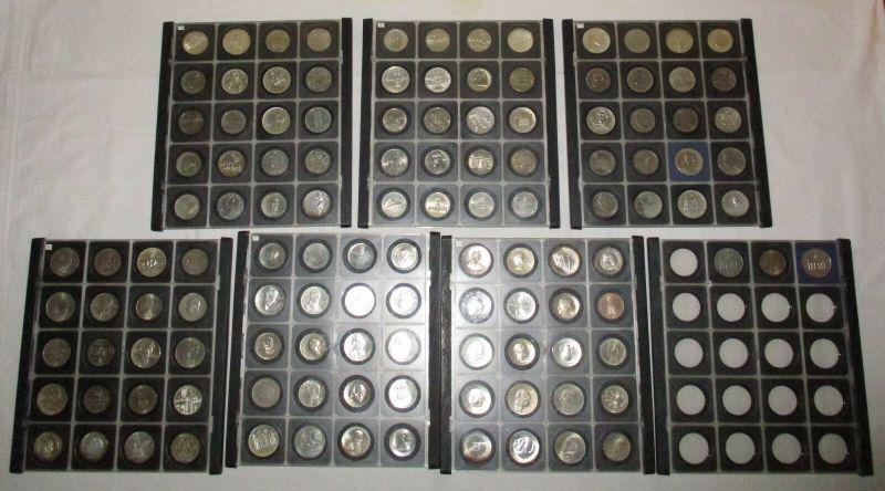 DDR Gedenkmünzensammlung komplett 123 Münzen Stempelglanz (110616)