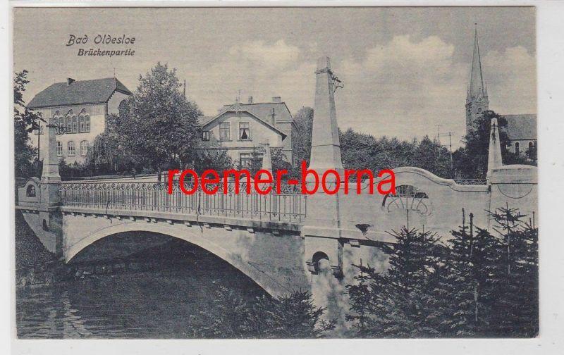 84874 Feldpost Ak Bad Oldesloe Brückenpartie 1916