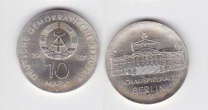 DDR Gedenk Münze 10 Mark Schauspielhaus Berlin 1987 (128246)