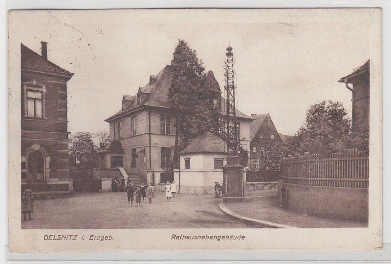 67823 Feldpost Ak Oelsnitz im Erzgebirge Rathausnebengebäude 1917