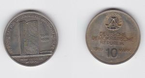 DDR Gedenkmünze 10 Mark 40 Jahre RGW Wirtschaftshilfe 1989 Stempelglanz (128330)