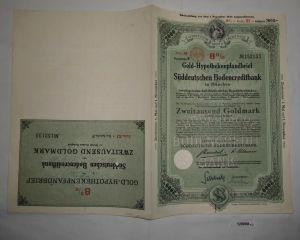 2000 Goldmark Pfandbrief Süddeutsche Bodencreditbank München 2.Jan 1929 (128068)