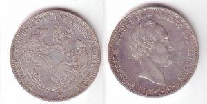 1 Taler Silber Münze Sterbetaler Friedrich August II. 1854 (105340)